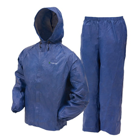 Frogg Toggs Ultra-Lite2 Waterproof Breathable Rain Suit, Mens, Blue, Size XX-Large