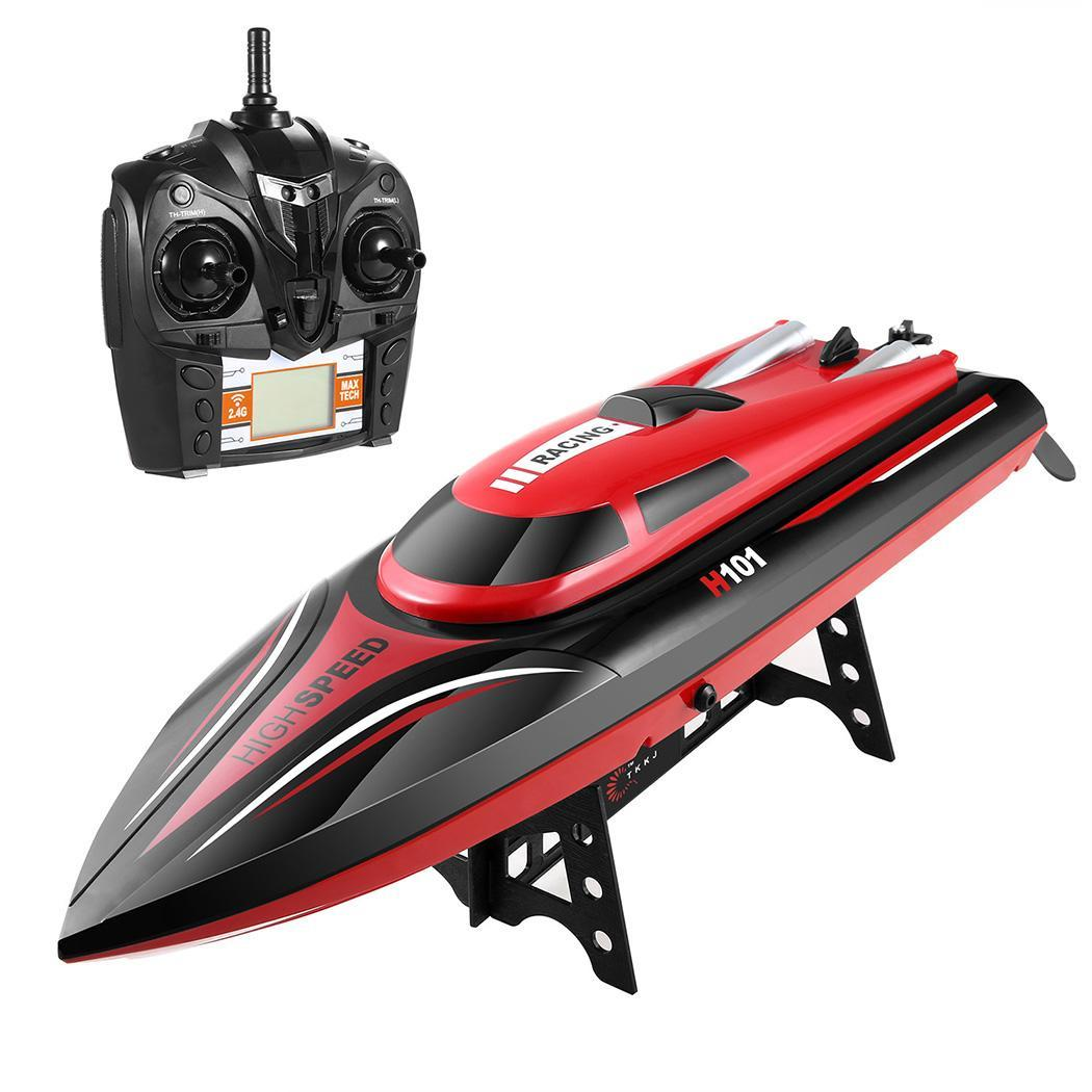2.4G Electric RC Boat with Remote Controlled High Speed Racing Boat for Pools Lakes Outdoor Adventure ROJE by