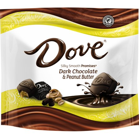 (4 Pack) Dove Promises, Peanut Butter And Dark Chocolate Candy, 7.61 Oz