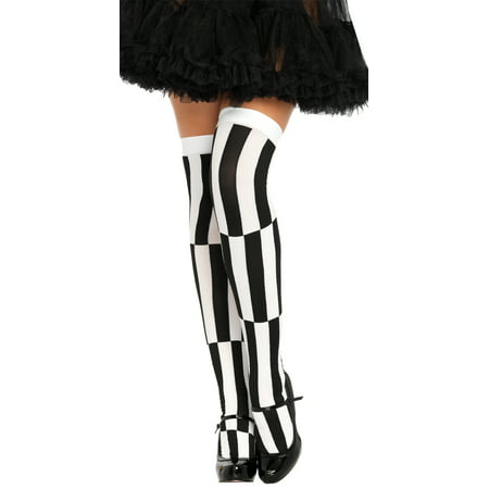 Woven Opaque Optical Illusion Thigh High Adult Halloween Accessory, One Size, (4-14) (Halloween Magic Illusions)