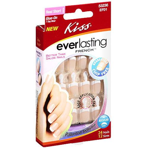 Kiss Everlasting French Nail Kit, 24ct