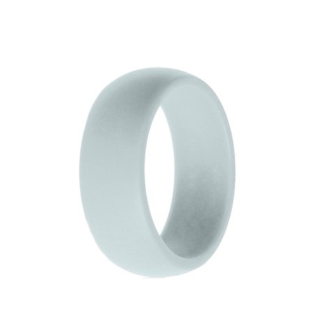 Silicone Wedding Ring Men Women Rubber Flexible Band Gym Sport Outdoor Gifts (Gray Freshwater Ring)