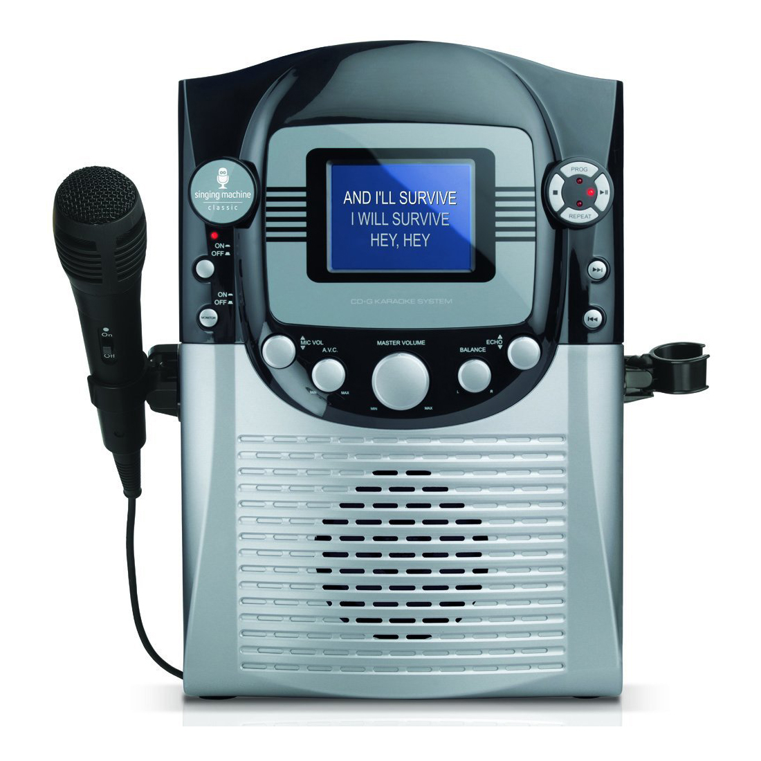 "Singing Machine STVG359 CD+G Karaoke System with 3.5"" CRT Color Monitor and Microphone"