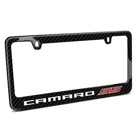 Chevrolet Camaro SS 2010 Black Real Carbon Fiber License Plate Frame