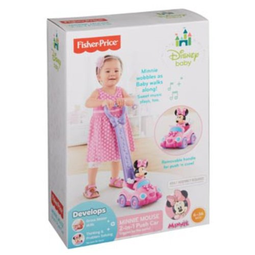 Fisher-Price Minnie Mouse 2-in-1 Push Car
