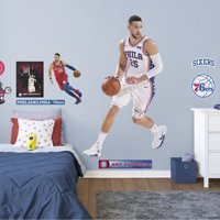 Fathead Ben Simmons: Association Jersey - Life-Size Officially Licensed NBA Removable Wall Decal