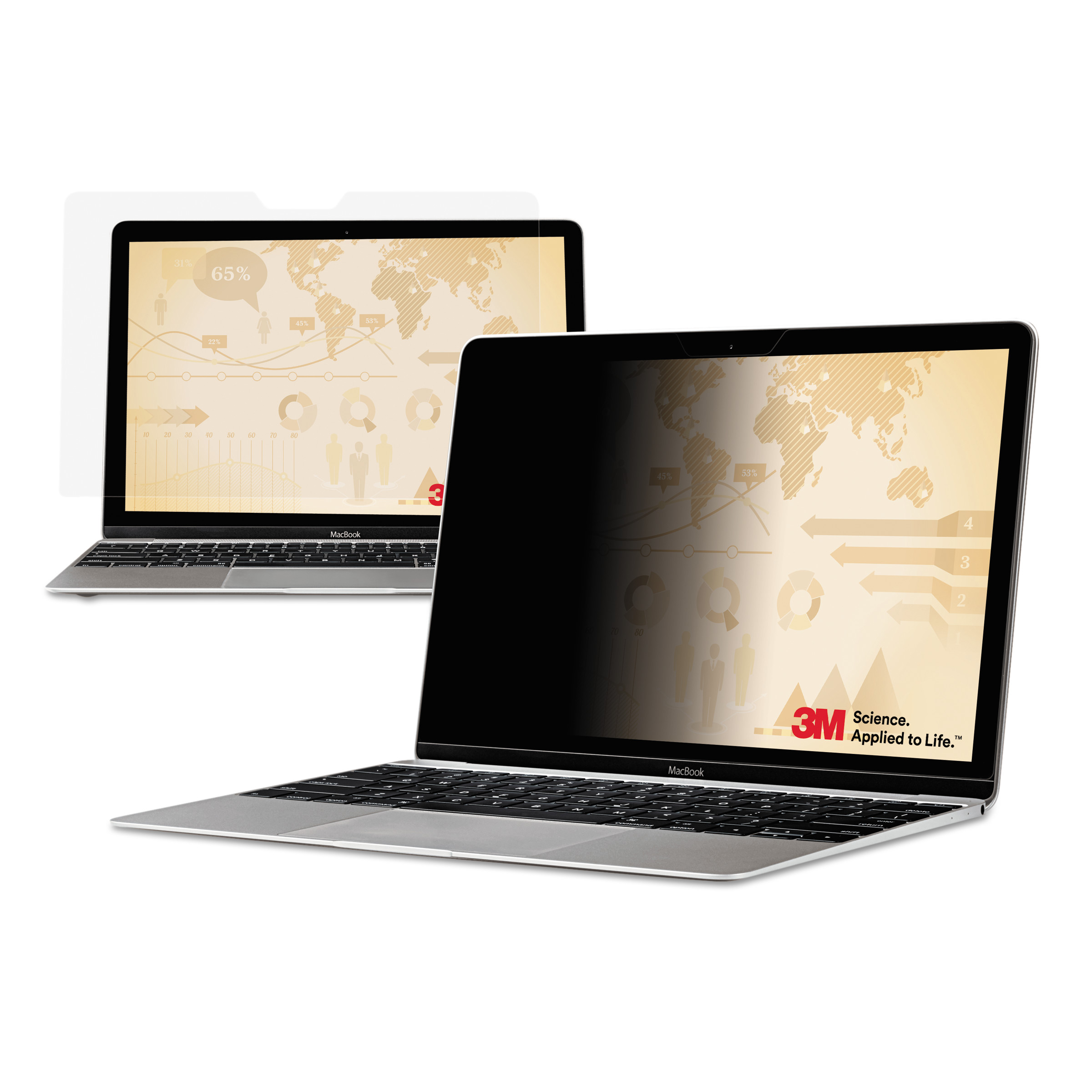 """3M Blackout Frameless Privacy Filter for 23.8"""" Widescreen Notebook, 16:9 by 3M"""