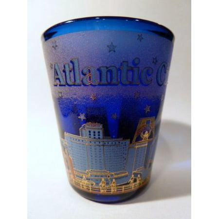 Atlantic City New Jersey Blue Shot Glass ctm - City Shot Glasses