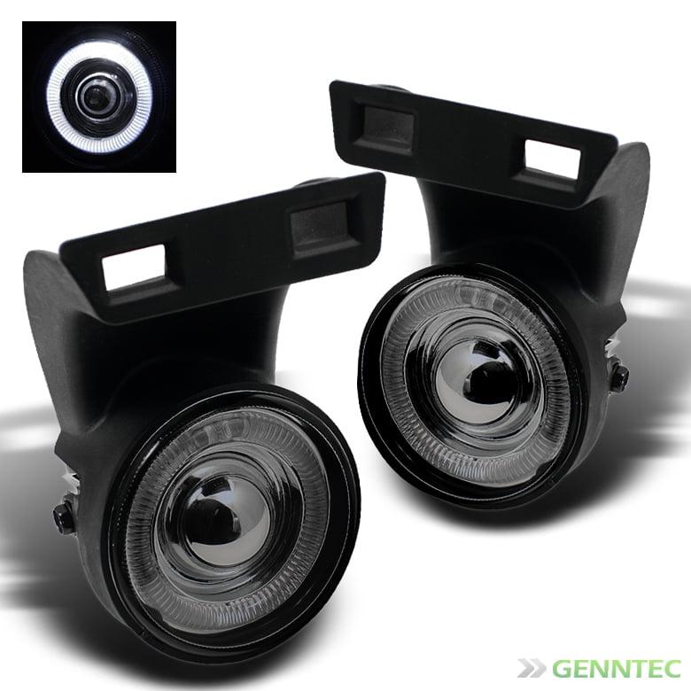 Smoked 1994-2001 Dodge Ram Halo Projector Fog Lights Lamp+Switch+Bulbs+Harness 1995 1996 1997 1998 1999 2000 Pair L+R