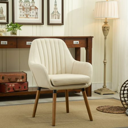 Calligaris Fabric Chair - Roundhill Furniture Tuchico Contemporary Fabric Accent Chair, Tan