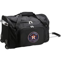 "Houston Astros 22"" 2-Wheeled Duffel Bag - Black - No Size"