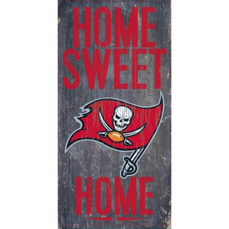 Tampa Bay Buccaneers Wall - Tampa Bay Buccaneers 6'' x 12'' Home Sweet Home Sign - No Size