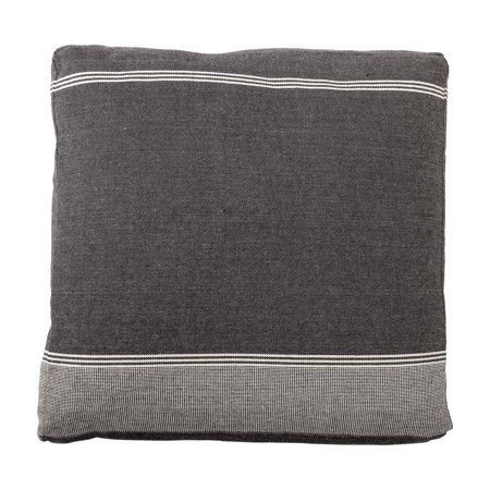 Blooms Stripe - Sprinkle & Bloom Black and Gray Striped Floor Pillow