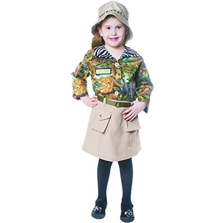 Dress Up America 514-L Safari Explorer Girls Child Costume - Size - Explorer Costume Kids