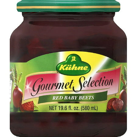 Kuhne Gourmet Selection Red Baby Beets, 19.6 fl oz, (Pack of 12)