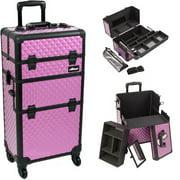 Sunrise I3761DMPLB Purple Dmnd Trolley Makeup Case - I3761