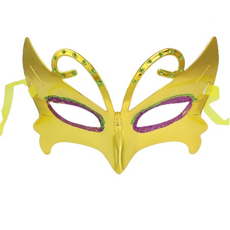 2x Masquerade Fancy Party Fuchsia Green Powder Detail Eye Mask (Mickey's Halloween Party Details)