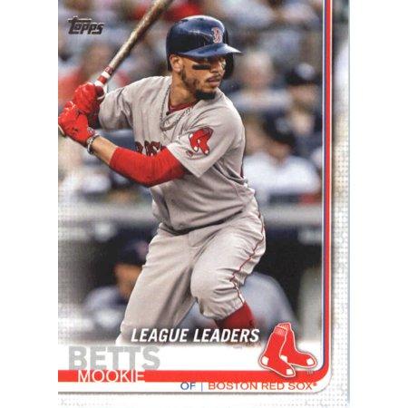 2019 Topps 312 Mookie Betts Boston Red Sox Baseball Card Gotbaseballcards