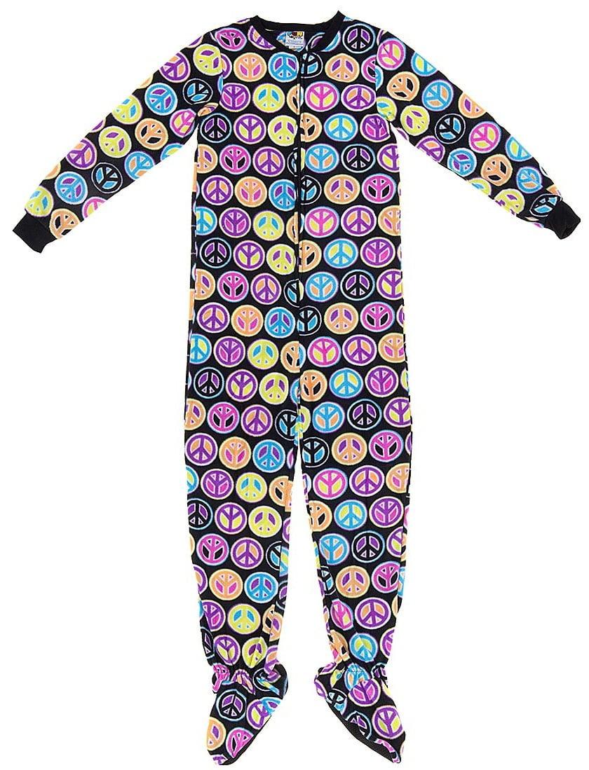 Fun Footies Peace Sign Pajamas for Kids