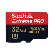 SanDisk Extreme Pro MicroSDXC UHS-I U3 A2 V30 32GB Micro SD Card Memory Card with Adapter