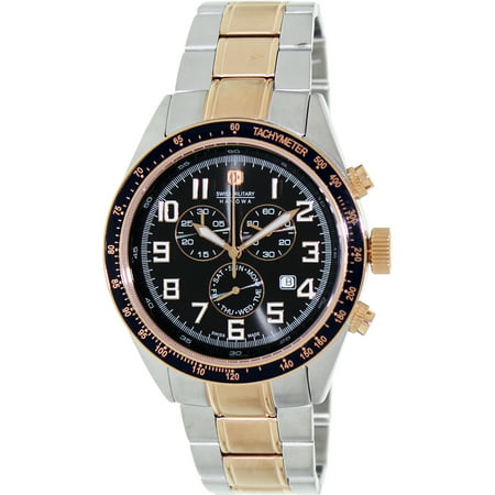 Swiss Military Hanowa Men's New Legend 06-5197-12-007 Black Stainless-Steel Swiss Chronograph Watch