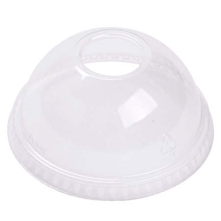 Dart DLKC1220H, Clear Dome Lid with Hole for 12 Oz Cup, 1000/Cs