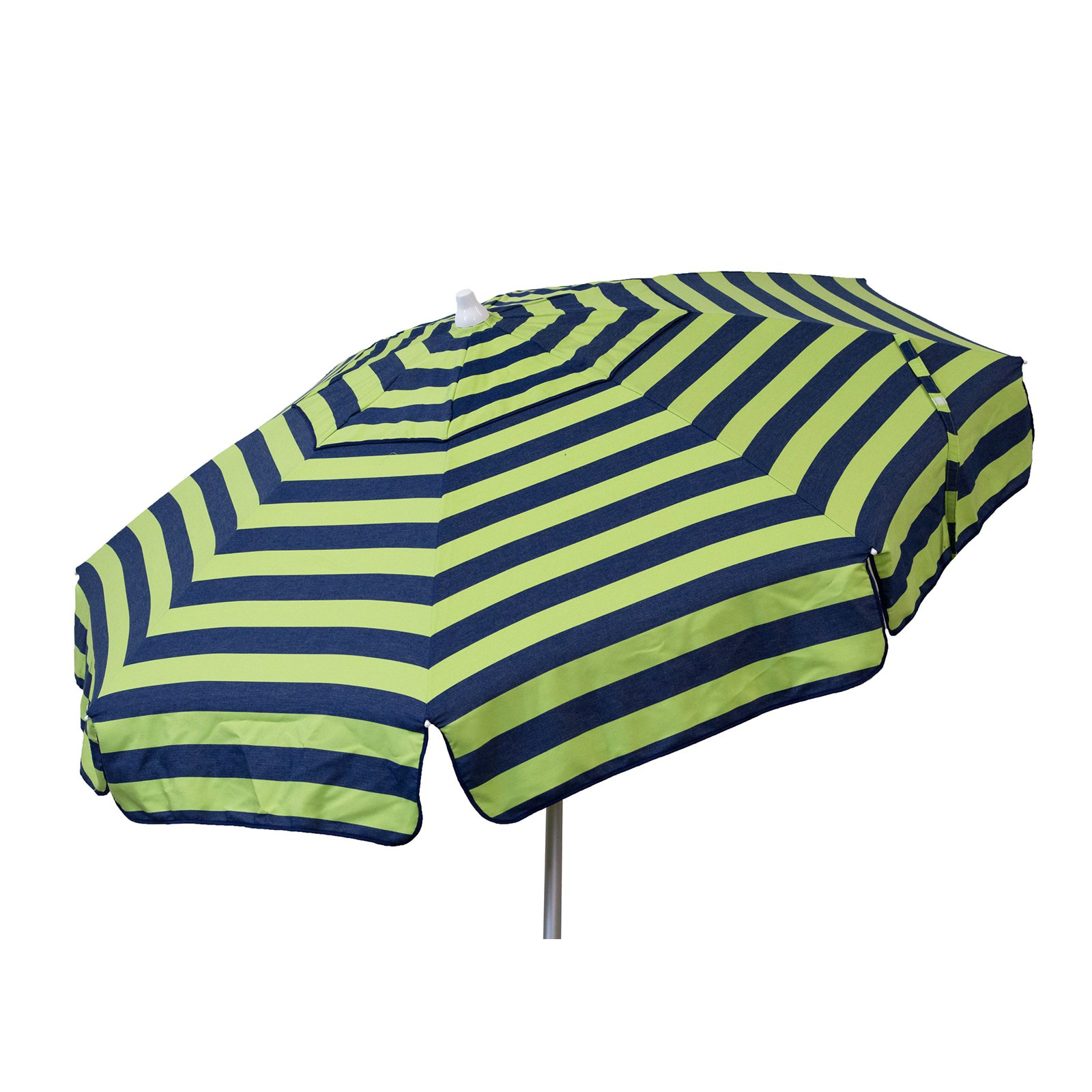 DestinationGear 6' Patio Umbrella Navy and Lime Stripe