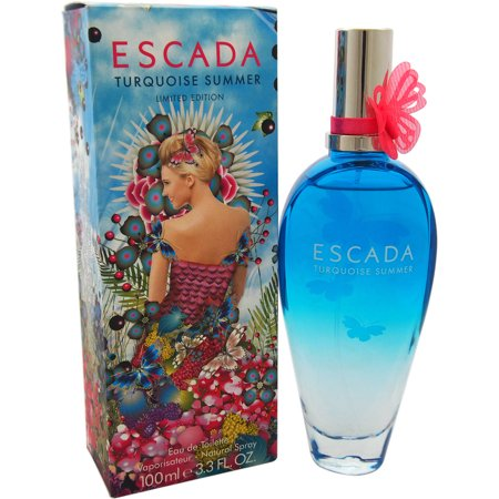 Escada Turquoise Summer Eau de Toilette Spray, 3.3 Oz