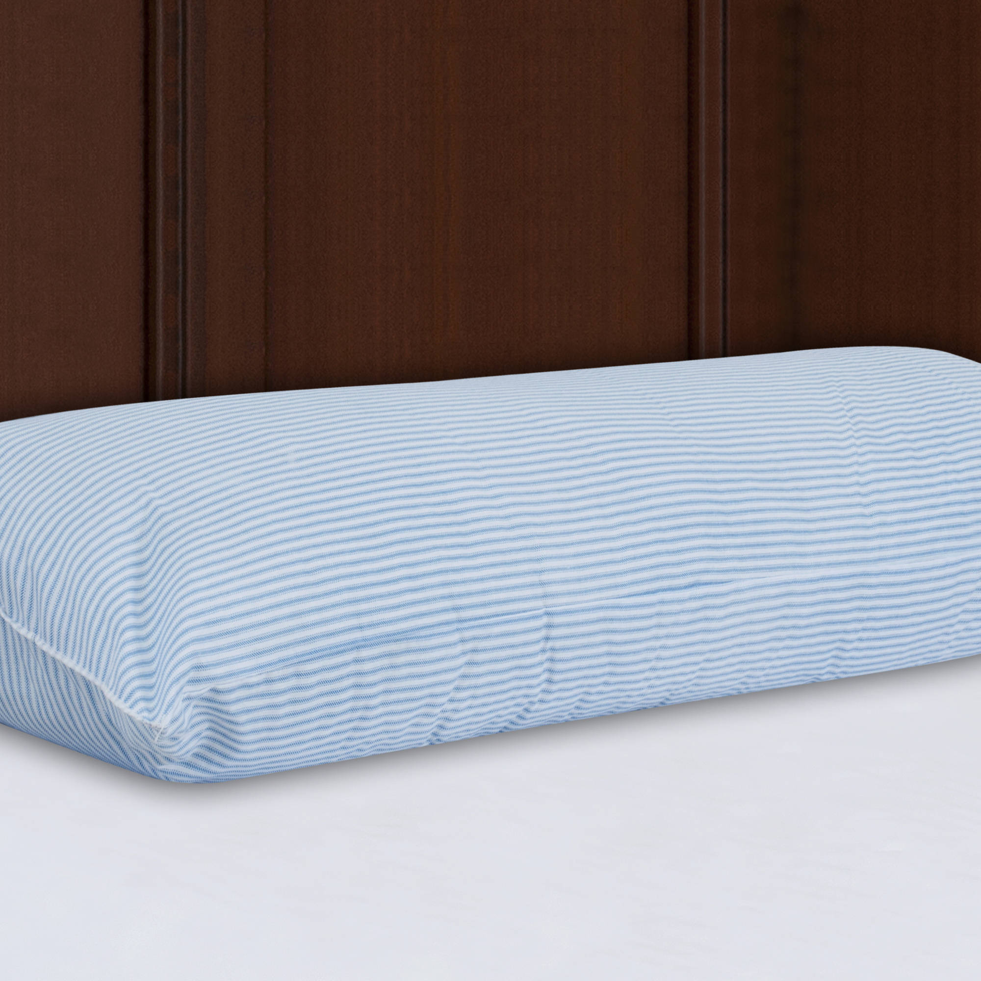 "Mainstays HUGE Body Pillow in Blue and White Stripe, 20"" x 54"""