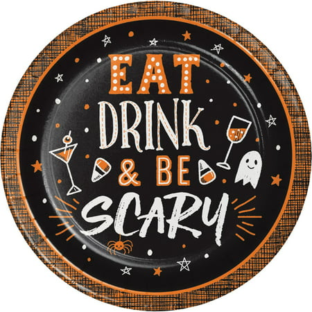 Halloween Happy Hour Eat Drink & Be Scary 8 Ct 6.75