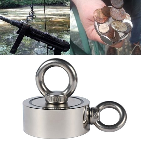 300KG 67mm Double Sides Strong Neodymium Magnet with Hanging Eyebolt Ring Strong Pulling Force Magnet for Treasure Hunting Salvage Fishing Strong Recovery Magnet Metal Detector  - image 2 of 10