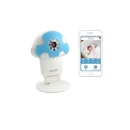 SecuEyes OCAM-M1B Wifi HD 720P Baby Monitor Security Video Camera & Nanny Cam Video Recording Remote Motion Detect Alert with Two-Way Audio and Infrared Night Vision iPhone iPad iOS/Android Compatible