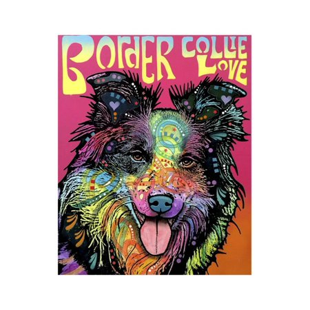 Border Collie Luv Print Wall Art By Dean Russo