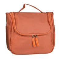 7bfce4a060d1 Unique Bargains Travel Cosmetic Makeup Bag Waterproof Hanging Toiletry Bag  Orange