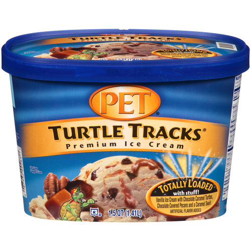 PET Turtle Tracks Premium Ice Cream, 1.5 qt
