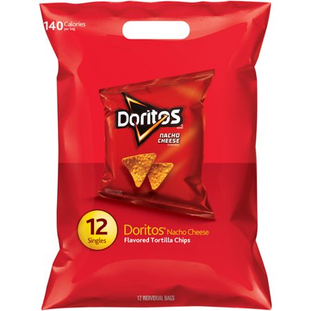 Doritos Nacho Cheese Flavored Tortilla Chips - 10ct