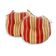 Greendale Home Fashions Roma Stripe 18'' Outdoor Bistro Chair Cushion, Set of 2