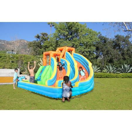 Mega Water Slide - Sportspower Twin Peaks Splash and Slide
