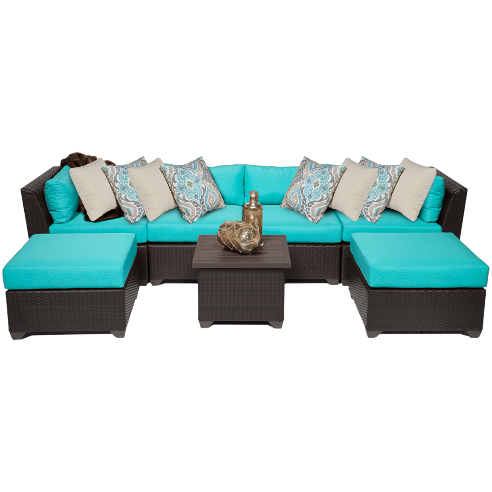 Bermuda 7 Piece Outdoor Wicker Patio Furniture Set 07a