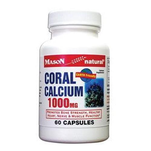 Mason Natural Coral Calcium 1000 Mg Capsules - 60 Ea