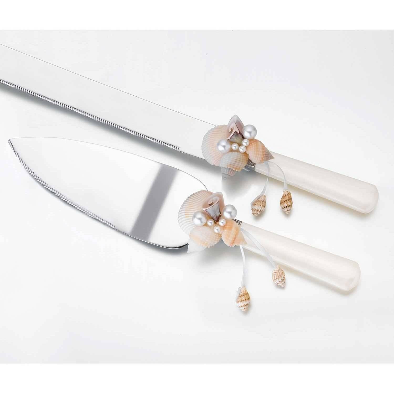 Seashell Knife and Server Set