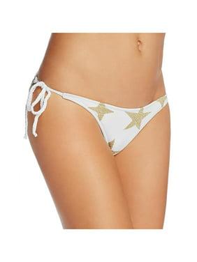 7f46f1355cf58 Product Image Lovers + Friends Womens Side Tie Stars Swim Bottom Separates  White L