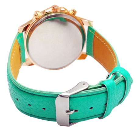 2015 Women Stylish Numerals Faux Leather Analog Quartz Wrist Watch (Wristwatch 2015)