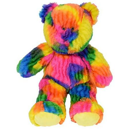 Cuddly Soft 16 inch Stuffed Multi-Colored Tie Dye Bear ...We stuff 'em...you love 'em!