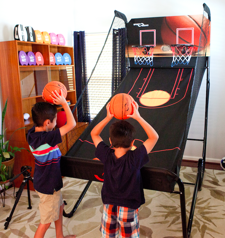 Sport Squad Jump Shot Pro Arcade Basketball Game with Multi-Game Modes, 4ct Basketballs, 1ct Pump