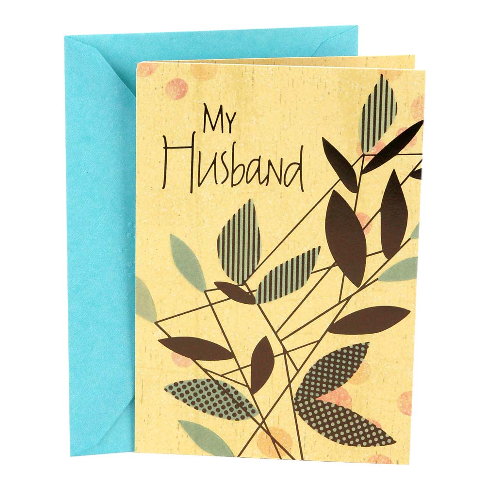 Hallmark, Branches and Leaves, Birthday Greeting Card, to Husband