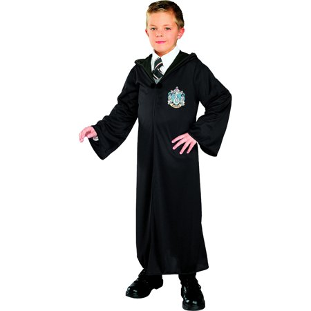 Childs Harry Potter Slytherin House Malfoy Costume Robe - Harry Potter Slytherin Robe
