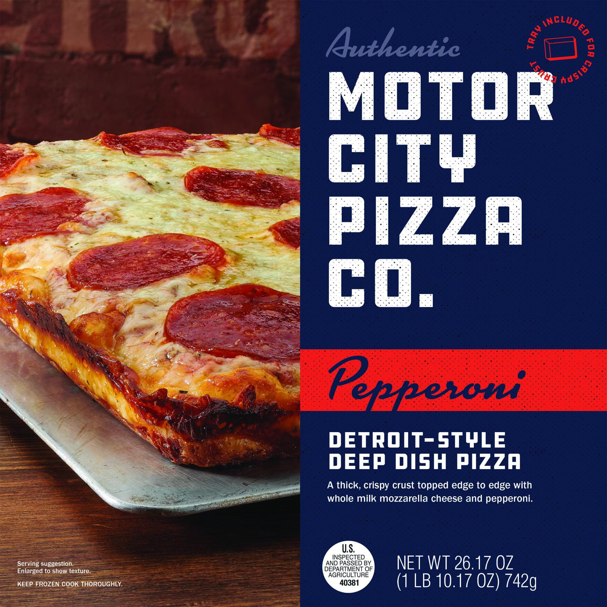 Motor City Detroit Style Pepperoni Deep Dish Pizza 26 17 Oz Box Walmart Com Walmart Com