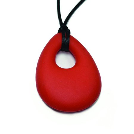 chewJle oval pendant - buddy buds red hot