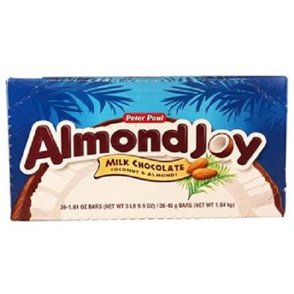 ALMOND JOY Candy Bar, (1.61-Ounce Bar, Pack of 36)